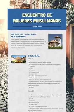 ENCUENTRO DE MUJERES MUSULMANAS