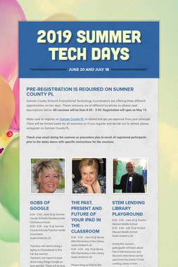 2019 Summer Tech Days