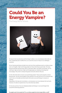 Could You Be an Energy Vampire?