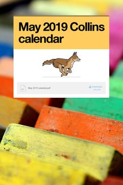 May 2019 Collins calendar