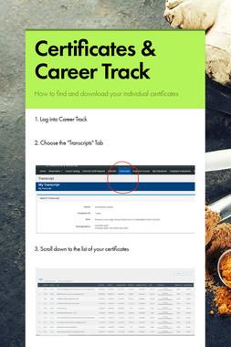 Certificates & Career Track
