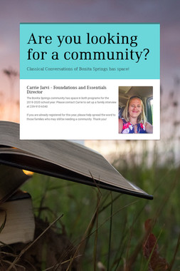 Are you looking for a community?