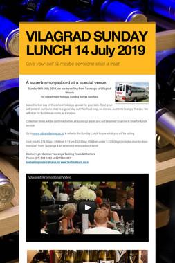 VILAGRAD SUNDAY LUNCH 14 July 2019