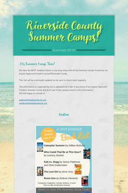 Riverside County Summer Camps!