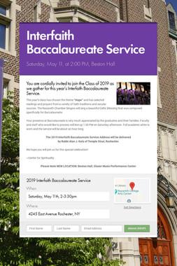 Interfaith Baccalaureate Service