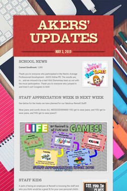 Akers' Updates
