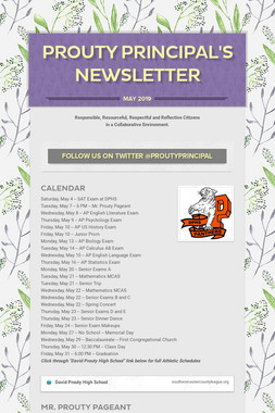 Prouty Principal's Newsletter