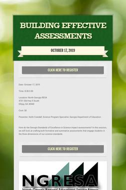 Building Effective Assessments