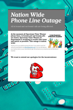 Nation Wide Phone Line Outage
