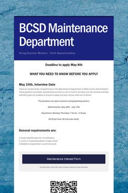 BCSD Maintenance Department