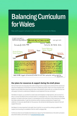 Balancing Curriculum for Wales