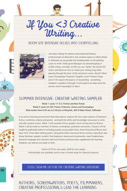 If You <3 Creative Writing...
