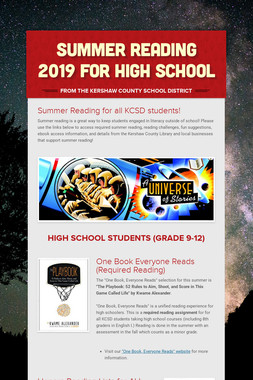 Summer Reading 2019 for High School