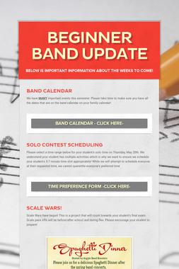 Beginner Band Update