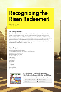 Recognizing the Risen Redeemer!