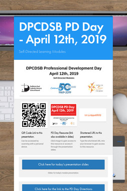 DPCDSB PD Day - April 12th, 2019