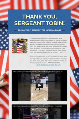 Thank You, Sergeant Tobin!
