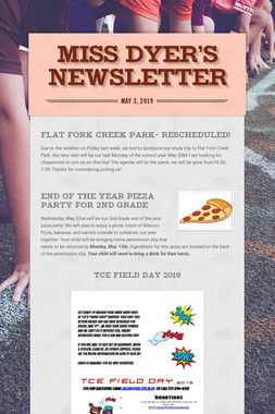 Miss Dyer's Newsletter
