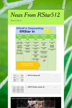 News From RStar512
