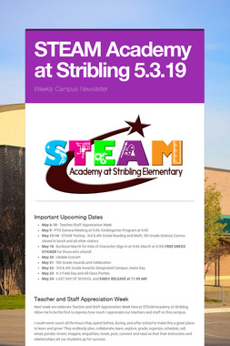 STEAM Academy at Stribling 5.3.19