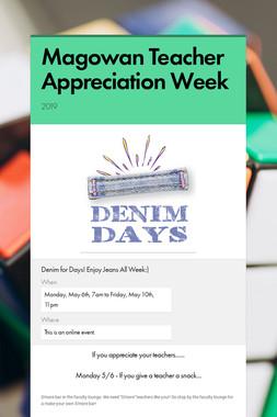 Magowan Teacher Appreciation Week
