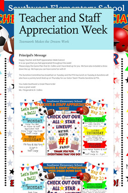 Teacher and Staff Appreciation Week