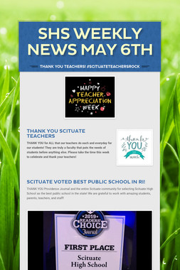 SHS Weekly News May 6th