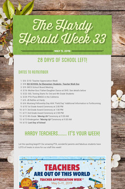 The Hardy Herald Week 33