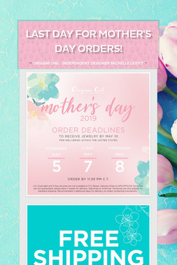 Last Day for Mother's Day orders!