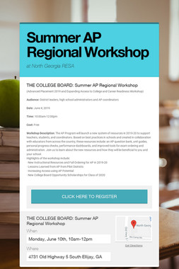 Summer AP Regional Workshop