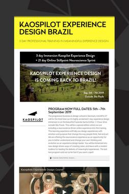 KAOSPILOT EXPERIENCE DESIGN BRAZIL