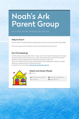 Noah's Ark Parent Group