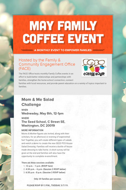 May Family Coffee Event