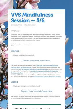 VVS Mindfulness Session -- Culture