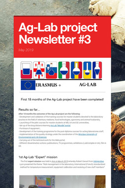 Ag-Lab project Newsletter #3