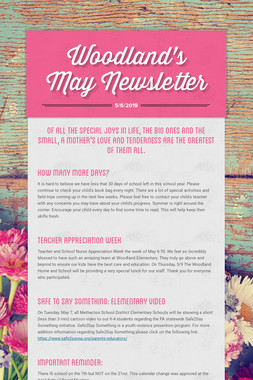 Woodland's May Newsletter