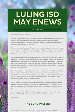 Luling ISD May ENews