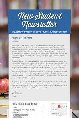 New Student Newsletter