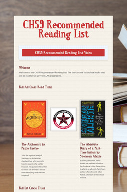 CHS9  Recommended Reading List