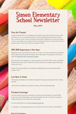 Simon Elementary School Newsletter