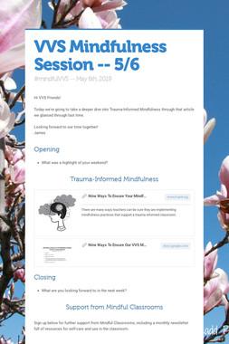 VVS Mindfulness Session -- 5/6