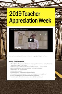 2019 Teacher Appreciation Week