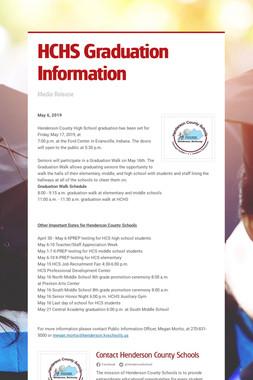 HCHS Graduation Information