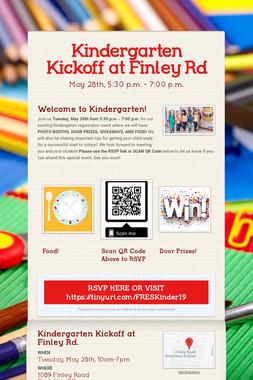 Kindergarten Kickoff at Finley Rd