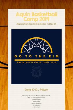 Aquin Basketball Camp 2019