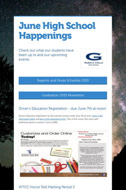 June High School Happenings
