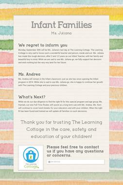 Jr. Preschool & Preschool Families