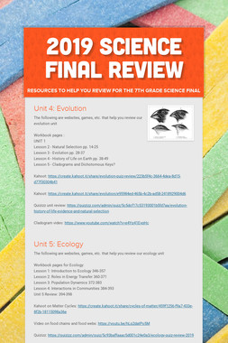 2019 Science Final Review