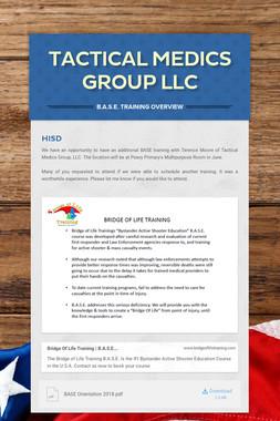 TACTICAL  MEDICS GROUP LLC