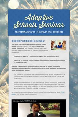 Adaptive Schools Seminar